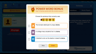 Use the Power Words to earn extra points.