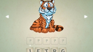 Unscramble the letters to spell the animal's name.