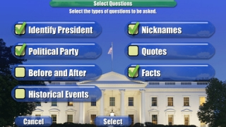 You can choose which topics to include in your quizzes.