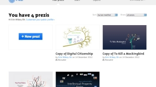 Save creations to your profile page, including copies of those you find while browsing the Prezi community.