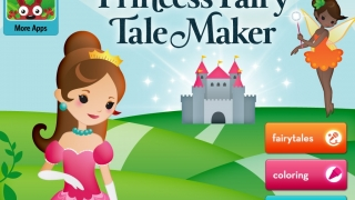 Create your own fairy tales by coloring drawings and making stickers move to tell stories.