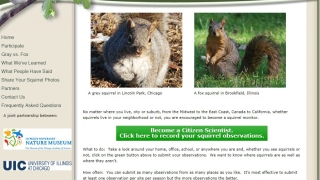 Project Squirrel lets students become citizen scientists and record squirrel data.