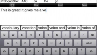 The app contains a typing-style text-to-talk function.
