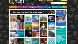 Q-files is an online encyclopedia that covers a range of science and social studies topics.