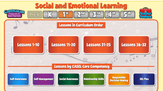 Follow the preset curriculum order or sort lessons by CASEL competency.