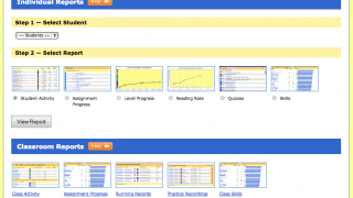 Teachers can access both individual and class reports.