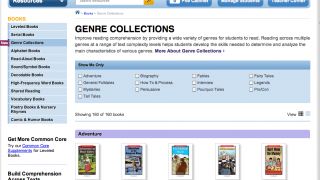Books are available in all genres -- nonfiction included.