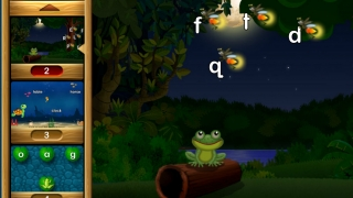 Kids find the lowercase f in this early level introducing the letter F.