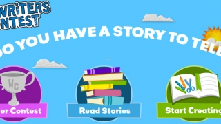 Kids can write stories to submit to a writers contest or read stories other kids wrote