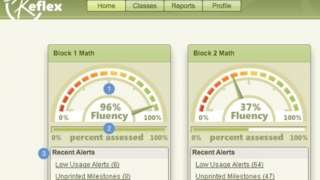 The Reflex Dashboard allows teachers to create classes, add students, and monitor student progress.