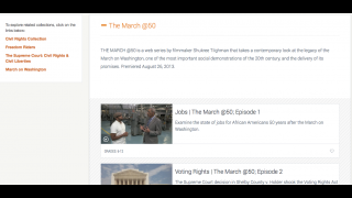 Users can link to other sections of the PBS website related to the U.S. Civil Rights Movement.