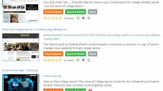 Results show each site's subject and the best-fit reading level.