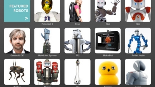 Tap on a robot's image and view its specifications.