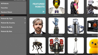 Select robot by type, country, date, size, random selection, and more.
