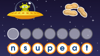 More advanced levels include longer words with no visual hints for spelling practice