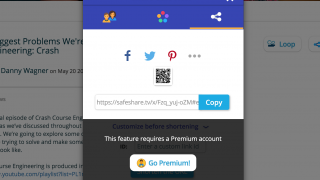 Unlimited sharing capabilities require a Premium account.