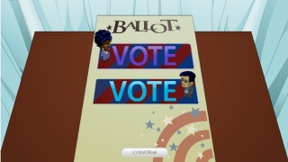 After players hear the candidates' answers, it's time to vote!