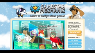 Gamestar Mechanic focuses on visual design to build games.