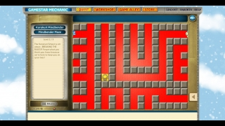 Playing through a maze mission.
