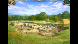 Players spend half their time exploring and excavating ruins.