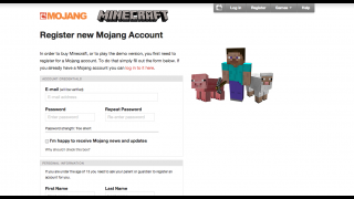 Minecraft registration