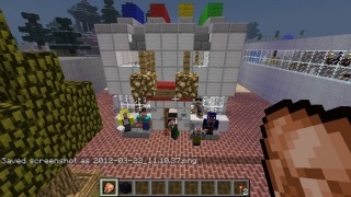 Students building in Minecraft.