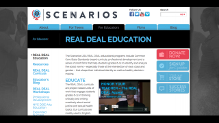 The educator's page has more sales information about the site's curriculum products than free content.