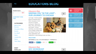 The Educator's Blog primarily features news about the Scenarios USA programs and site.
