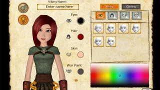 Students can customize their dragon trainer character.