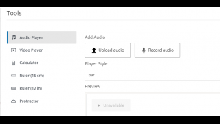 Upload audio or video to assignment directions or assessment questions.