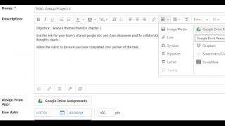 Schoology easily integrates with Google Apps and other services.