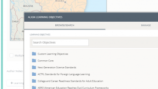 Link questions to the available objectives or import district-wide learning objectives.