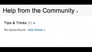 The help page lacks the support of the user community.