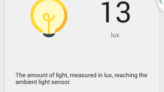 Sensors within the phone let students gather data, such as the amount of light.