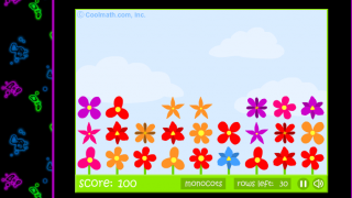 """The """"Petal Pusher"""" game is simple, but connects well to the site's plant content."""