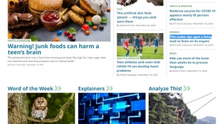 Science News for Kids provides science articles for elementary to high school students.