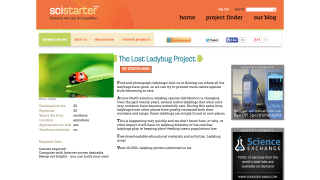 The Lost Ladybug project is one of the site's highlights for elementary school classrooms.