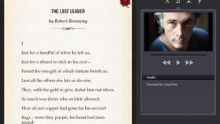 Students have the option to listen to audio recordings of all the poems, and they can read along while listening.