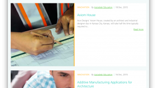A fun blog highlights Autodesk's education applications and has plenty of great lesson ideas.