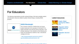 Lesson-plan and curriculum materials for teachers are one click away.