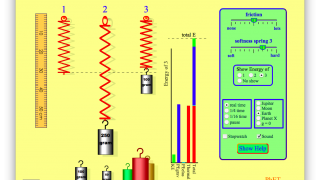 Understand energy and oscillation with the spring simulator.