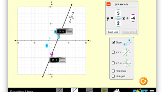 Watch your equations change in real time while you adjust a line on a coordinate plane.