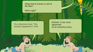 Answer questions about the story to get more information about the author.