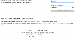 TodaysMeet provides an easy-to-use backchannel for online conversation.