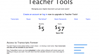 Teachers can upgrade security and access for an additional monthly or yearly cost.