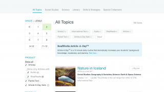 Filter content to curate the best reading assignments for your students' needs.