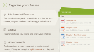Teachers.io provides many ways to organize your classes.