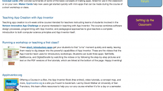 There are some teacher resources and guides, some of which lead offsite.