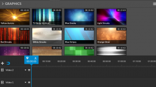 Colorful graphics can be added to each video.