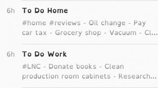 Clean interface allows you to see your most recent notes at a glance.